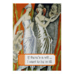 """If There's a Will"""" Poster"""