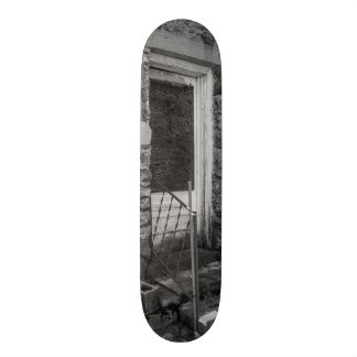 If This Back Door Could Talk Grayscale Skateboard Deck