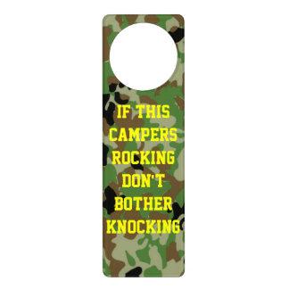 IF THIS CAMPERS ROCKING DON'T BOTHER KNOCKING DOOR KNOB HANGER