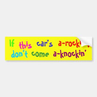 If this car's car bumper sticker