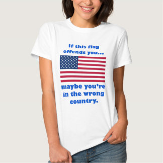 if this flag offends you, maybe you're in the wron T-Shirt