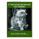 IF THIS SITUATION HAS GOT  YOU THINKING... STATIONERY NOTE CARD