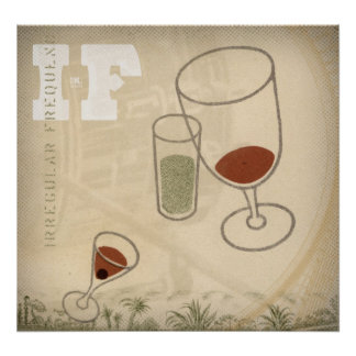 iF. Three Cocktails Poster