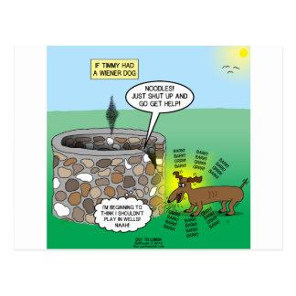 If Timmy had a Wiener Dog Postcard