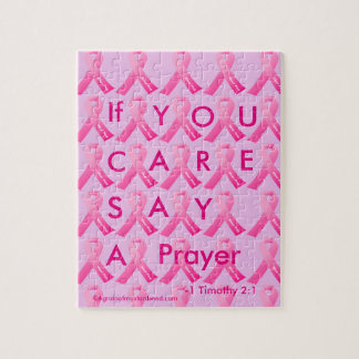 If U Care Say A Prayer Pink Ribbon Puzzles