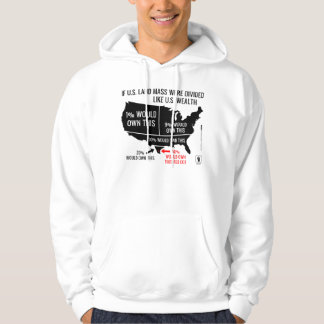 If U.S. Land Mass Were Divided Like U.S. Wealth Hooded Pullover