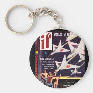 If v04 n04 (1954-12.Quinn)_Pulp Art Basic Round Button Keychain