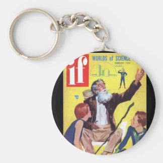 If v04 n06 (1955-02.Quinn)Pulp Art Basic Round Button Keychain