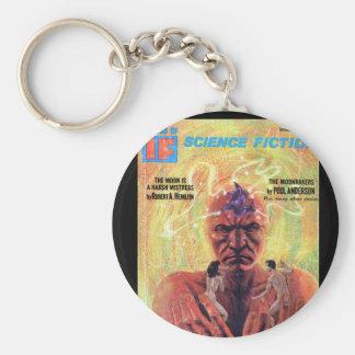 If v16 n01 (1966-01.Galaxy)_Pulp Art Basic Round Button Keychain