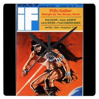 If v22 n06 (1974-08.UPD)_Pulp Art Square Wall Clock