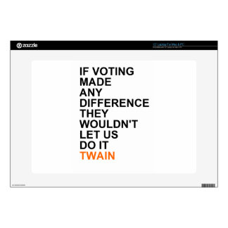 "If voting made any difference.png 15"" laptop skin"