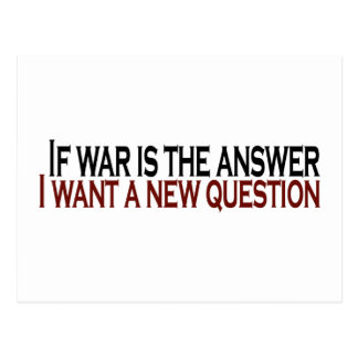 If War Is The Answer Postcard