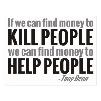 If We Can Find Money To Kill People... Postcard