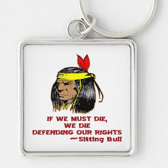 If We Must Die We Die Defending Our Rights Keychain