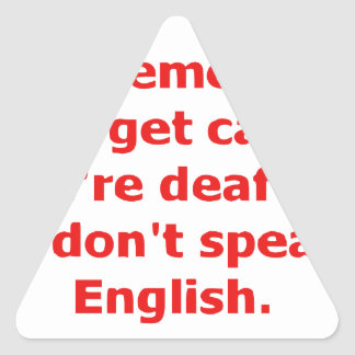 If We're Caught, You're Deaf And I Don't Speak... Triangle Sticker