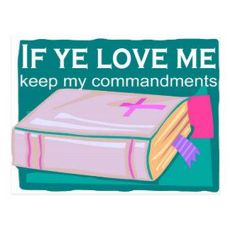 If ye love me keep my commandments postcard