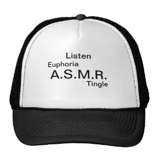 If you are a fan of ASMR show off your passion. Trucker Hat