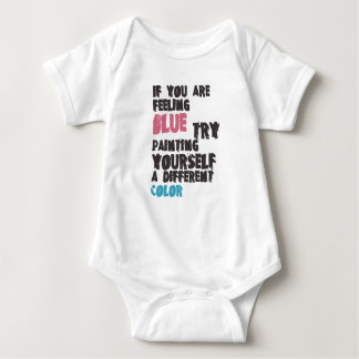 If you are feeling blue try painting yourself a di baby bodysuit
