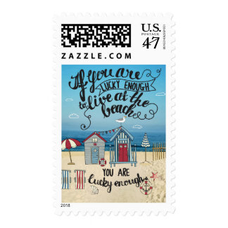 If You Are Lucky Enough To Live At The Beach Postage