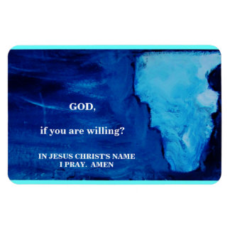 IF YOU ARE WILLING RECTANGULAR PHOTO MAGNET