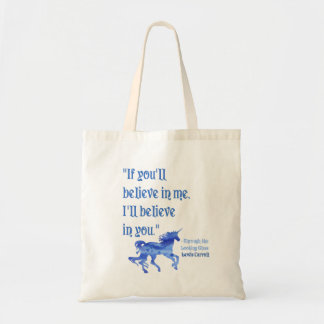 If You Believe in Me Lewis Carroll Tote