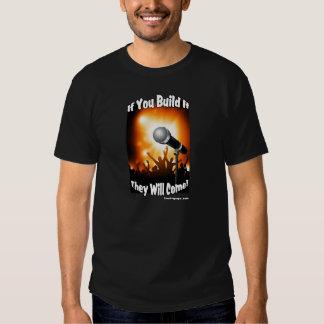If you build it - Black Tee Shirt