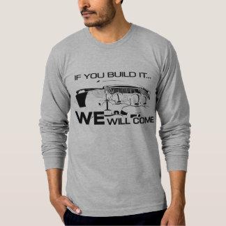 If You Build It Long Sleeve Grey T-Shirt