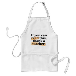 If you can read this adult apron