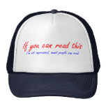 if you can read this cap trucker hat