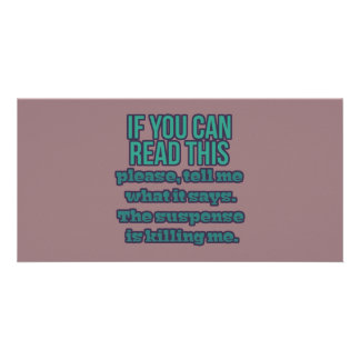 If You Can Read This Card