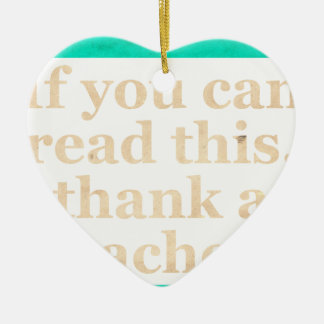 If you can read this Double-Sided heart ceramic christmas ornament