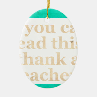 If you can read this Double-Sided oval ceramic christmas ornament