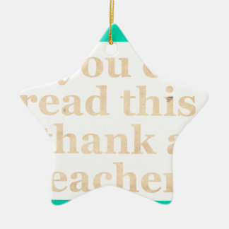 If you can read this Double-Sided star ceramic christmas ornament