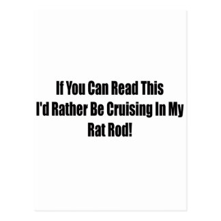 If You Can Read This Id Rather Be Cruising In My R Postcard