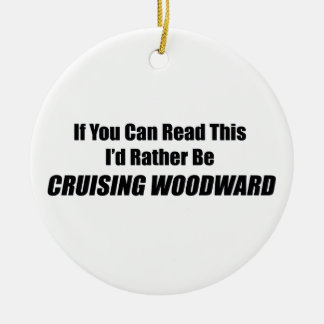 If You Can Read This Id Rather Be Cruising Woodwar Double-Sided Ceramic Round Christmas Ornament