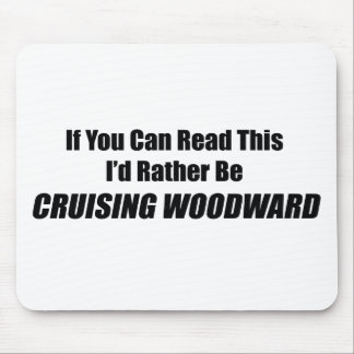 If You Can Read This Id Rather Be Cruising Woodwar Mousepad