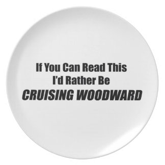 If You Can Read This Id Rather Be Cruising Woodwar Dinner Plate