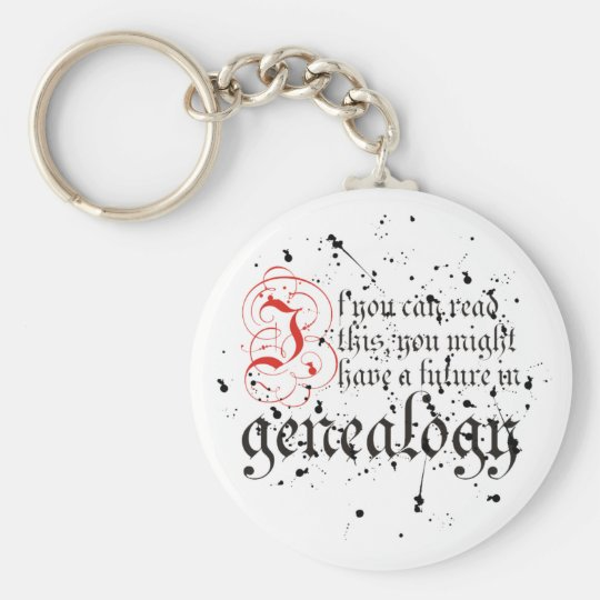 If You Can Read This Keychain