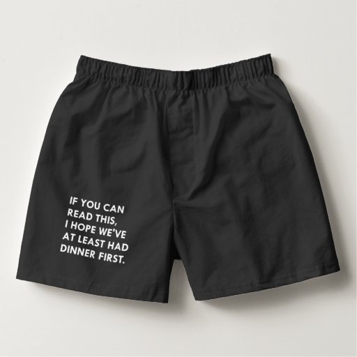 """""""IF YOU CAN READ THIS"""", Men's humorous underwear Boxers"""
