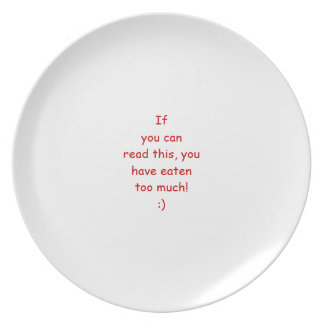 """""""If you can read this ......"""" plate"""