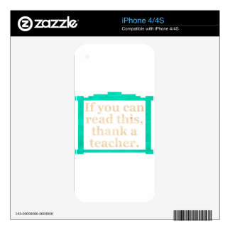 If you can read this iPhone 4 skins