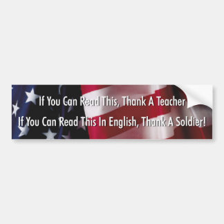 If You Can Read This Thank A Teacher Bumper Sticker