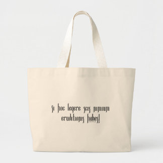 If You Can Read This You're Over-Educated Jumbo Tote Bag