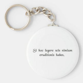 If you can read this, you're overeducated. keychain