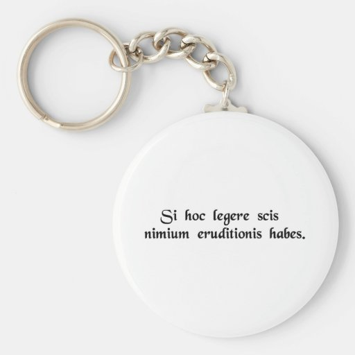 If you can read this, you're overeducated. key chain