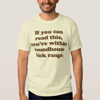 if you can read this you're within roundhouse kick t shirt