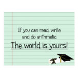 If You Can Read Write and Do Arithmetic Postcard