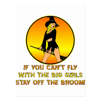 If You Can't Fly With The Big Girls Postcard