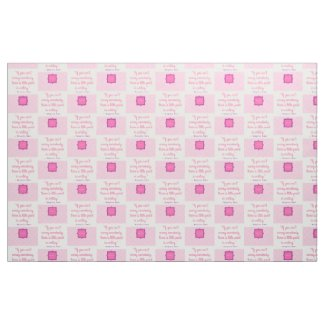 If You Can't Annoy - Pink and Cream Tile Fabric