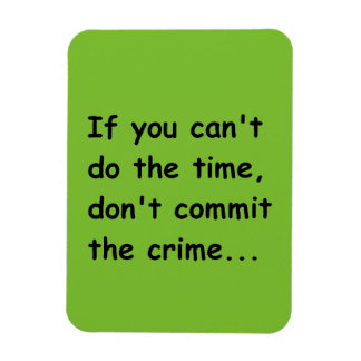 IF YOU CANT DO THE TIME DONT COMMIT THE CRIME WISE MAGNET